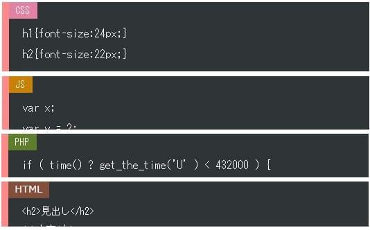 ソースコード表示サンプル