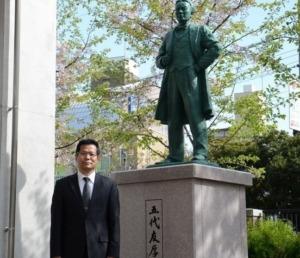 大阪市立大阪ビジネスフロンティア高校:五代友厚像