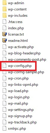 WordPress関連ファイル